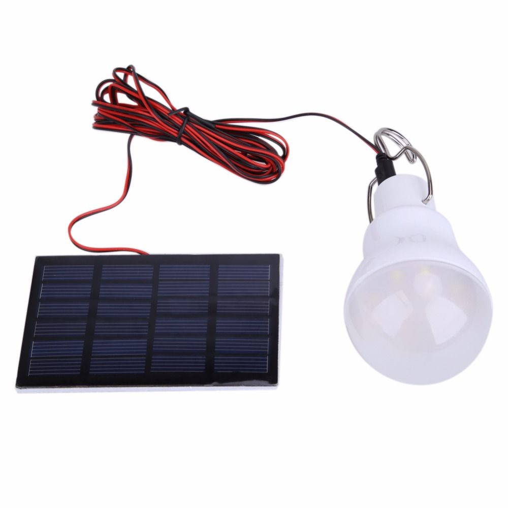 Home Use Portable Solar Power LED Bulb Lamp outdoor CampTent Fishing ...