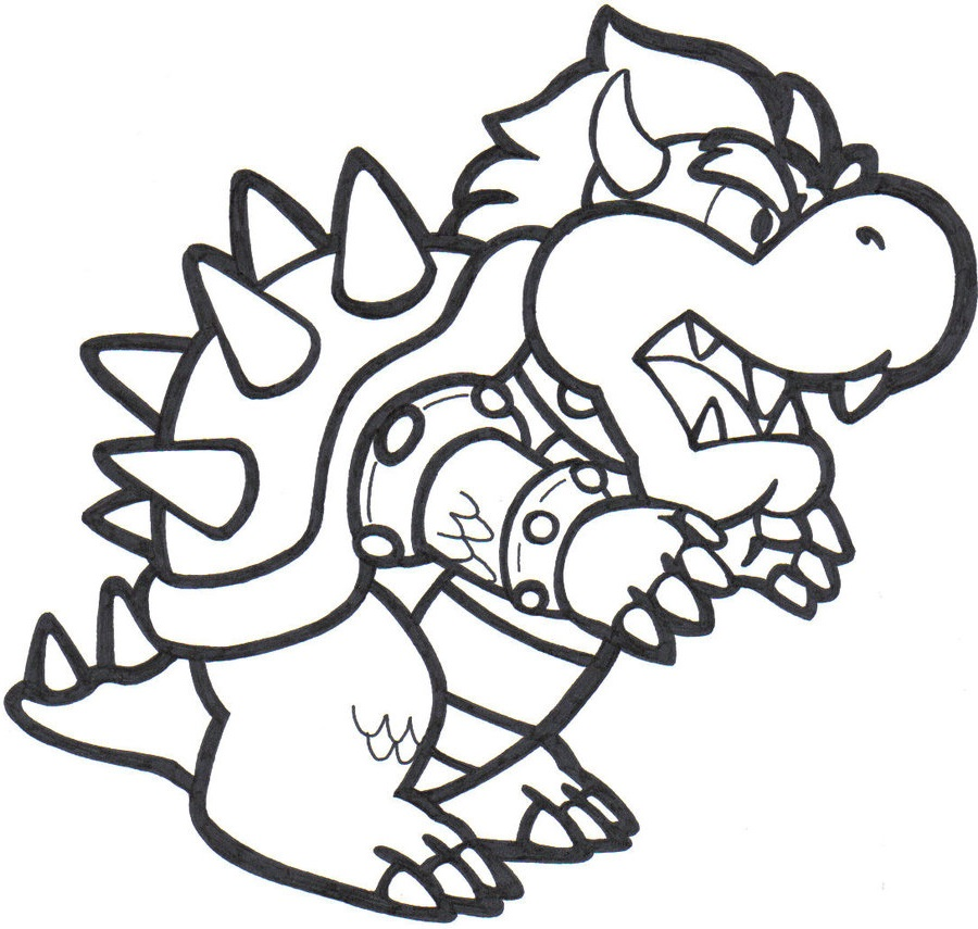 Bowser Coloring Page Dragon | Coloring pages, Bowser ...