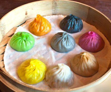 Colorful Steamed Bun Bizarre Foods Steamed Buns Homemade Dumplings