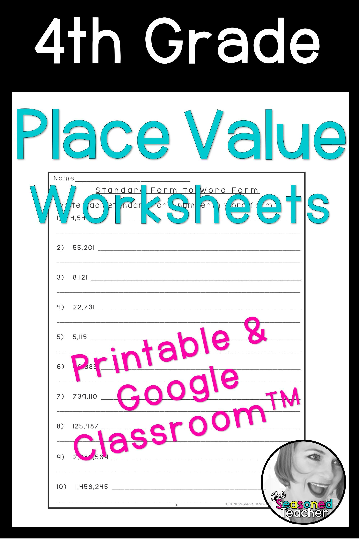 Slides Or Printable Place Value Worksheets In