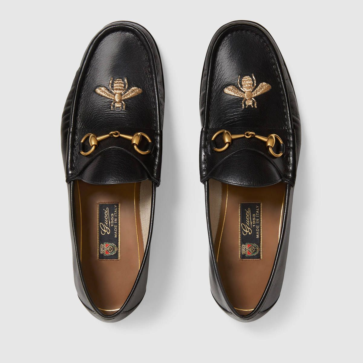 5829c993322 Gucci Leather loafer with bee