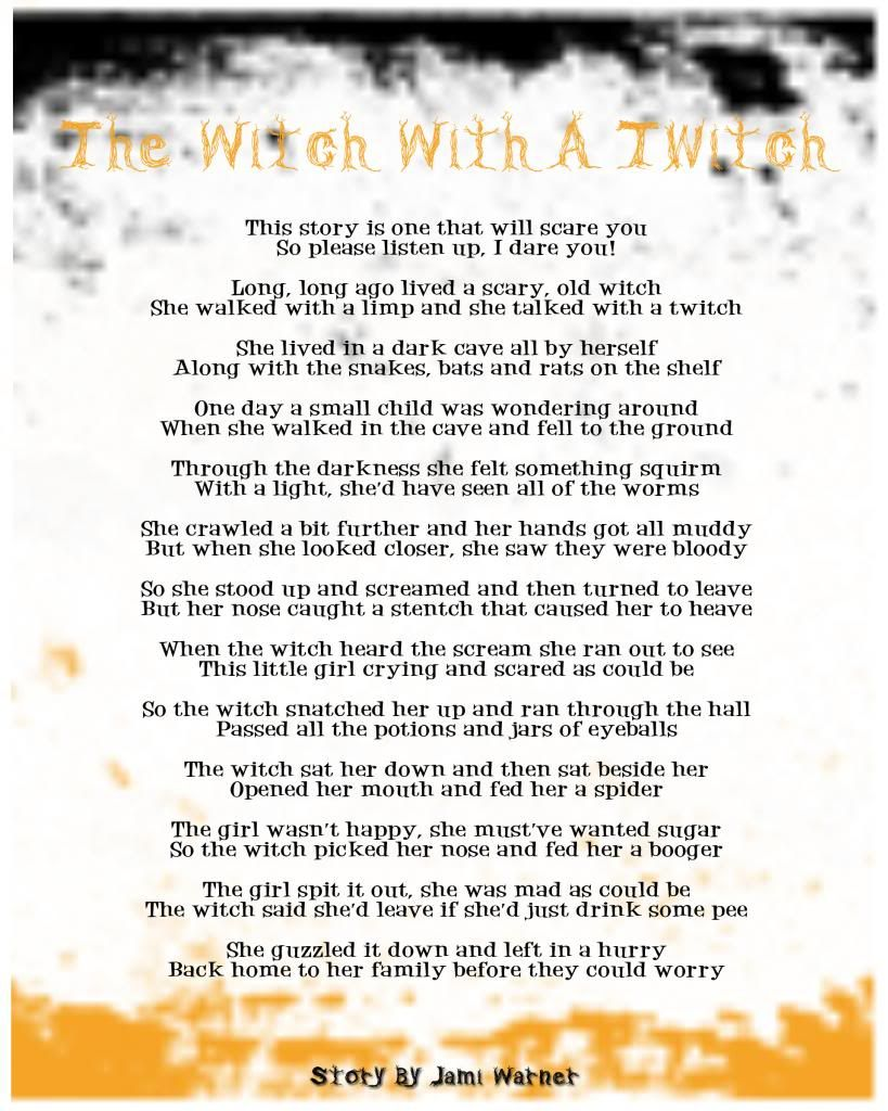 Uncategorized Spooky Halloween Poems the witch with a twitch halloween story photo this was parties