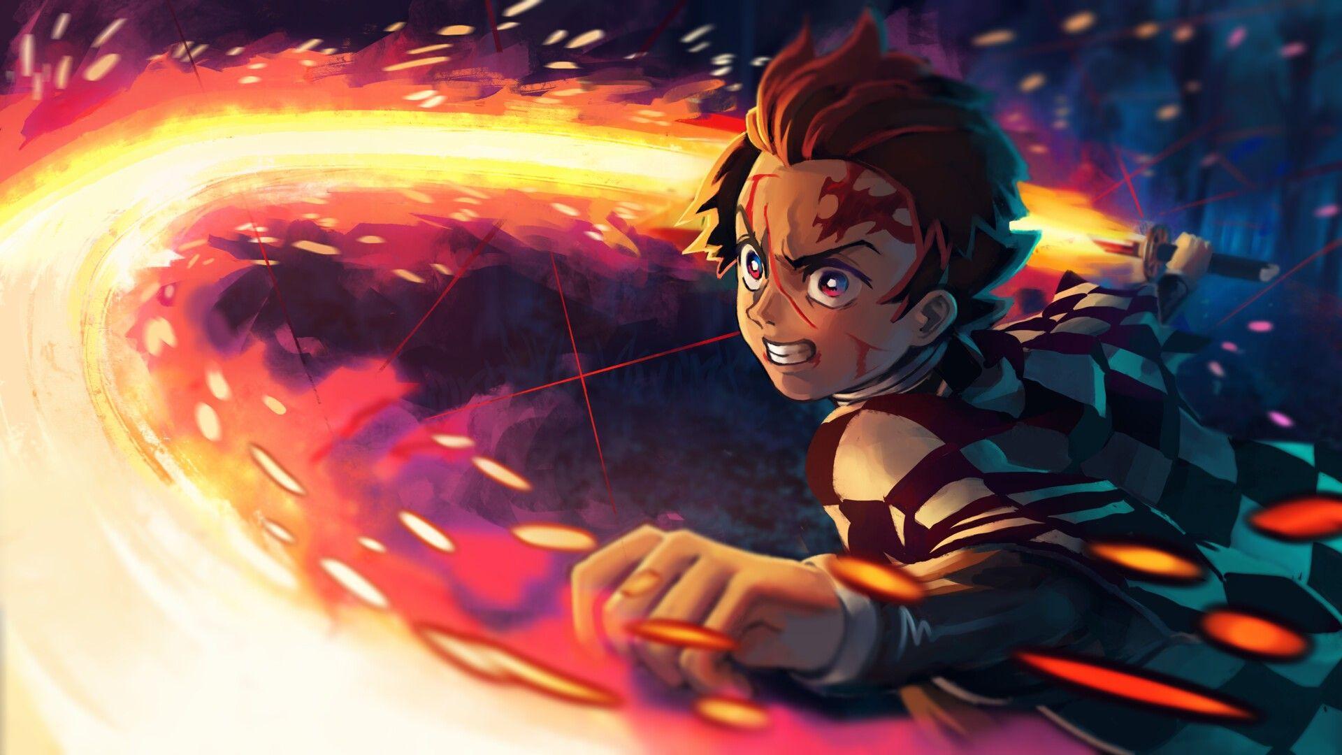 Tanjiro Cool anime wallpapers, Anime, Anime demon
