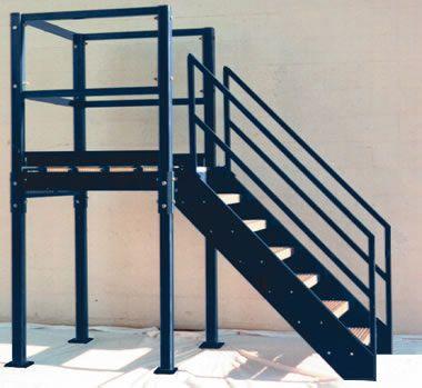 Unique Prefab Metal Stairs 1 Prefabricated Steel Stairs And | Prefabricated Exterior Metal Stairs | Stair Case | Stairways | Aluminum | Wrought Iron | Stair Treads