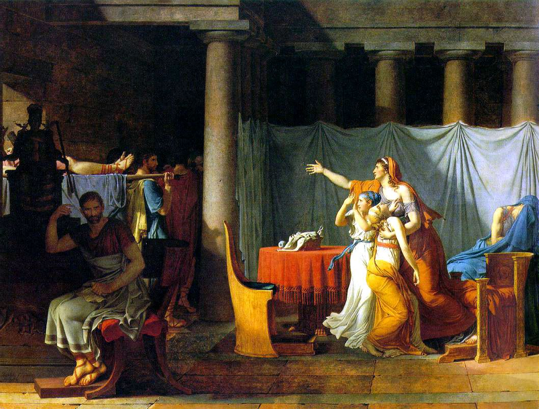 David, The Lictors Bring to Brutus the Bodies of His Sons, 1789