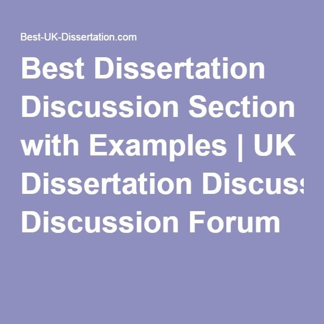 writing the discussion section of a dissertation