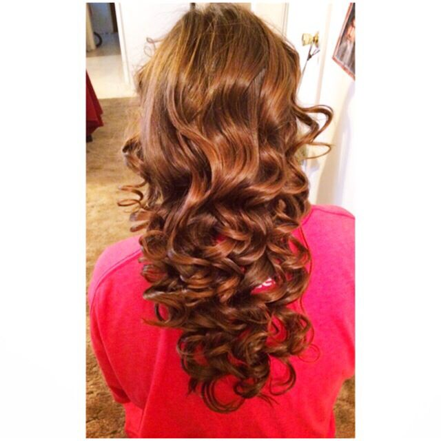 Had so much fun with this hairstyle! Cute for prom ...