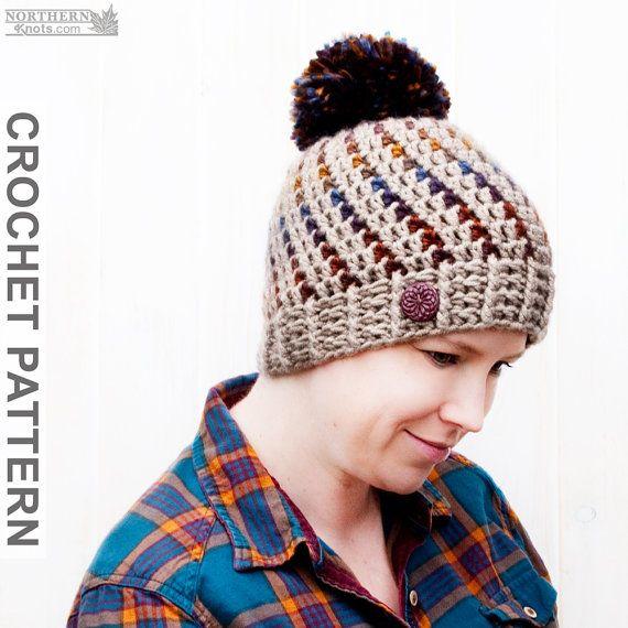 Crochet Hat Pattern Northern Lights Pom por NorthernKnotsCanada ...