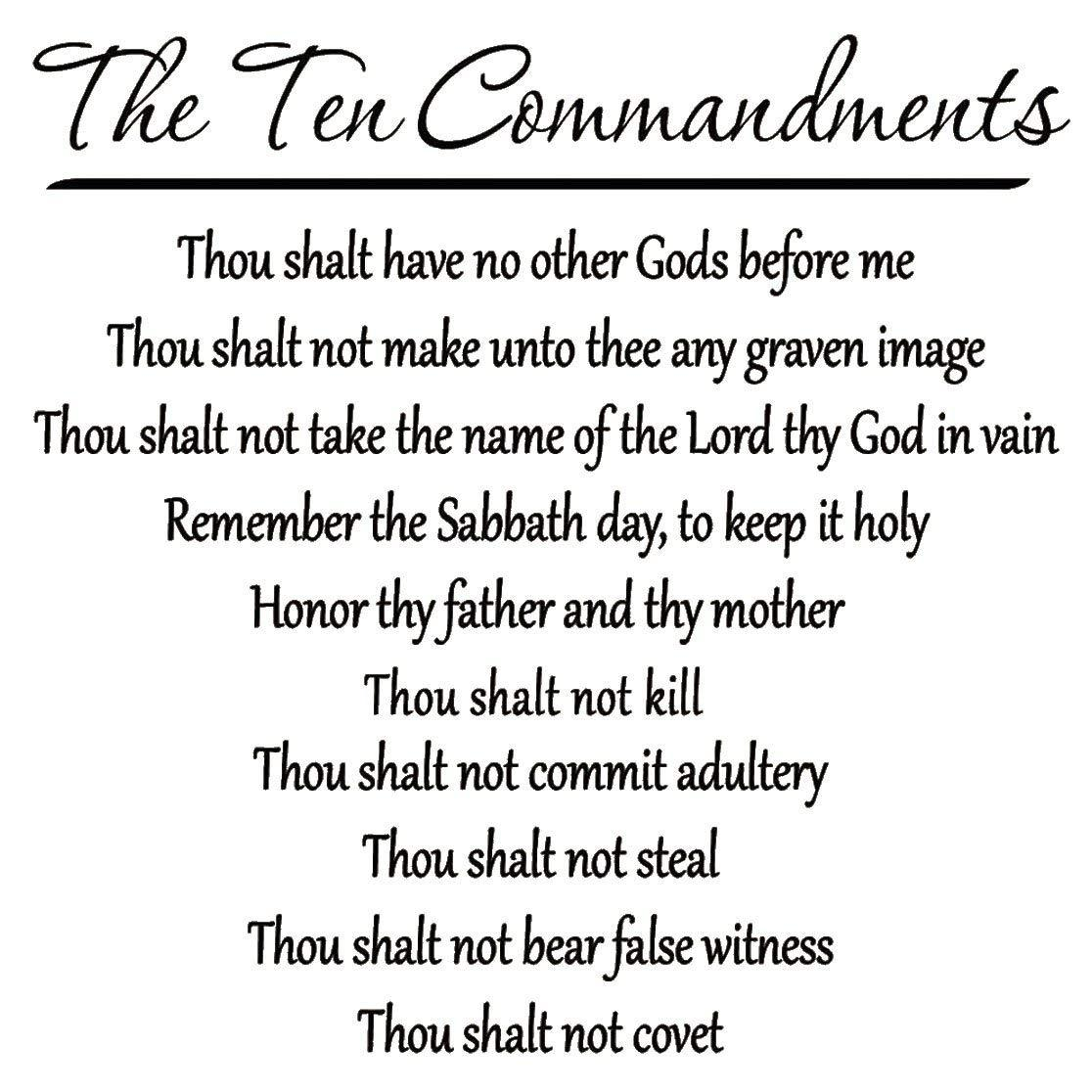10 Commandments Wall Decal Bible Verse Ten Commandments Wall Art Scripture Quotes Faith Faith Quotes 10 Commandments
