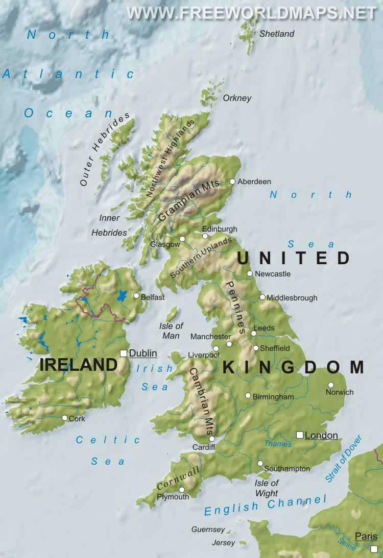 Cartina Gran Bretagna Muta.Geografia Quiz Su Mappa Regno Unito Norfolk England England Map British Isles