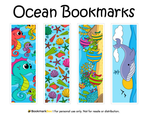 Free printable ocean bookmarks download the pdf template at http bookmarkbeecom bookmark for Printable bookmarks pdf