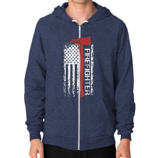 Fashions firefighter Zip Hoodie (on man)