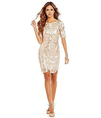 Gianni Bini Sydney Scalloped Sequin Dress #Dillards No longer ...