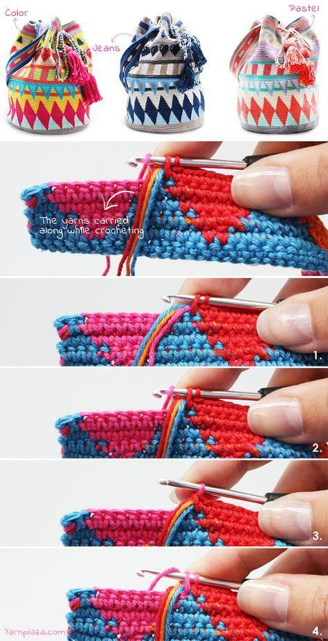 Mochila Bag Tapestry Crochet Free Pattern Tutorial