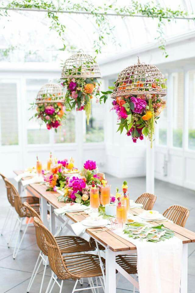 Indoor garden party decor idea | Garden Party | Pinterest ...