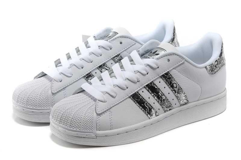 adidas outlet superstar ii snake spot wit zilver