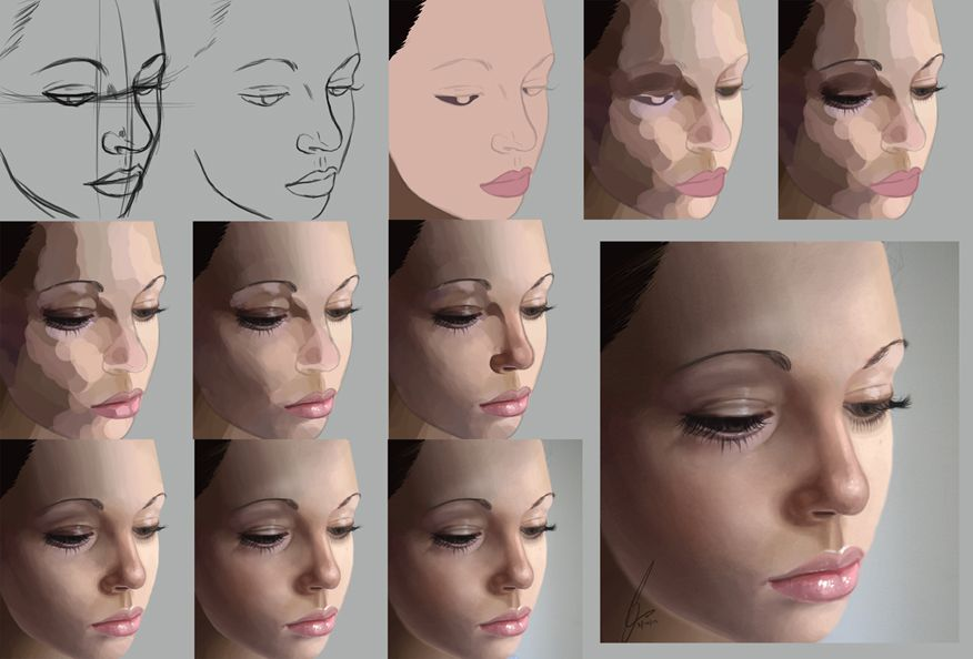 digital painting photoshop process technique realistic