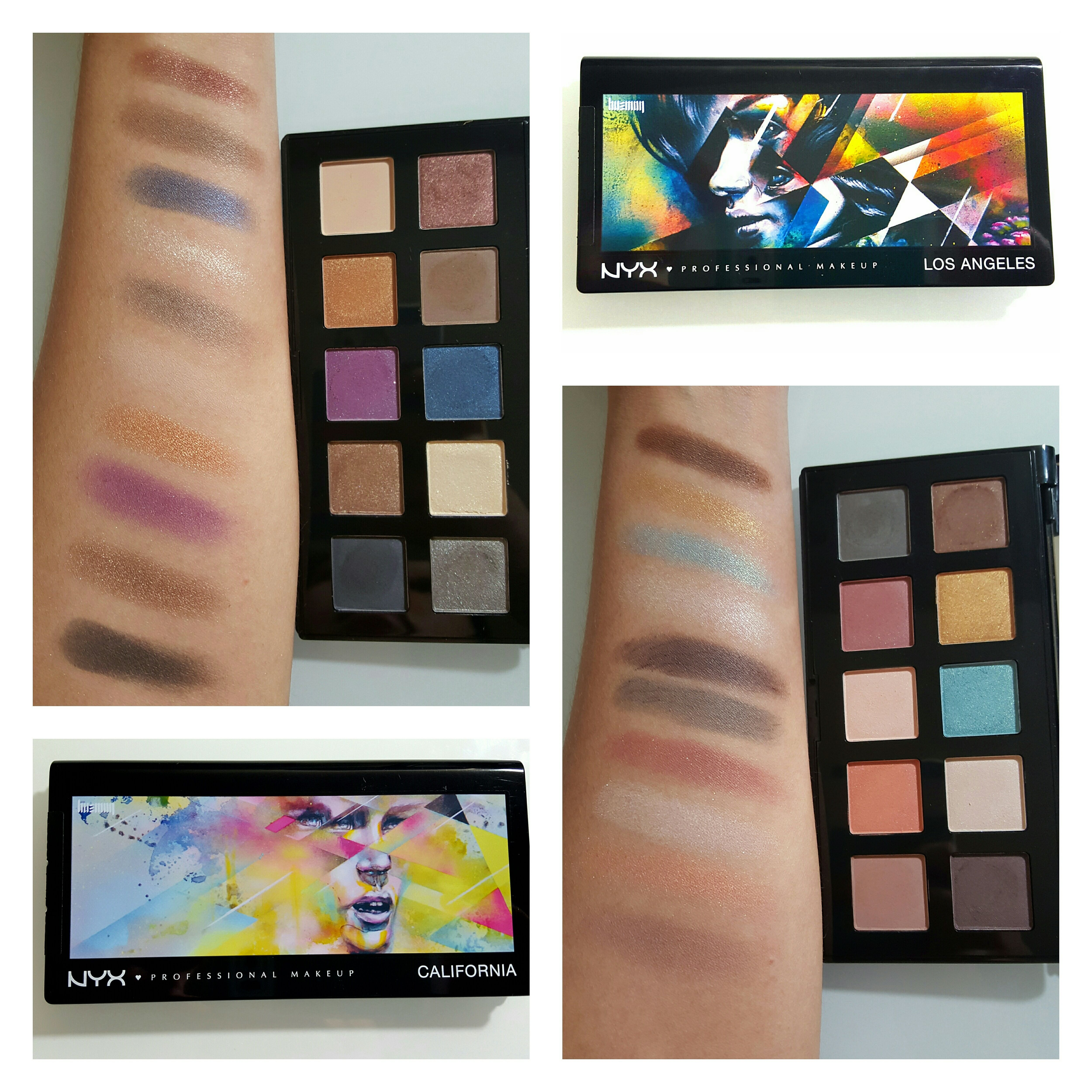 New NYX California & Los Angeles Palettes on the Unified