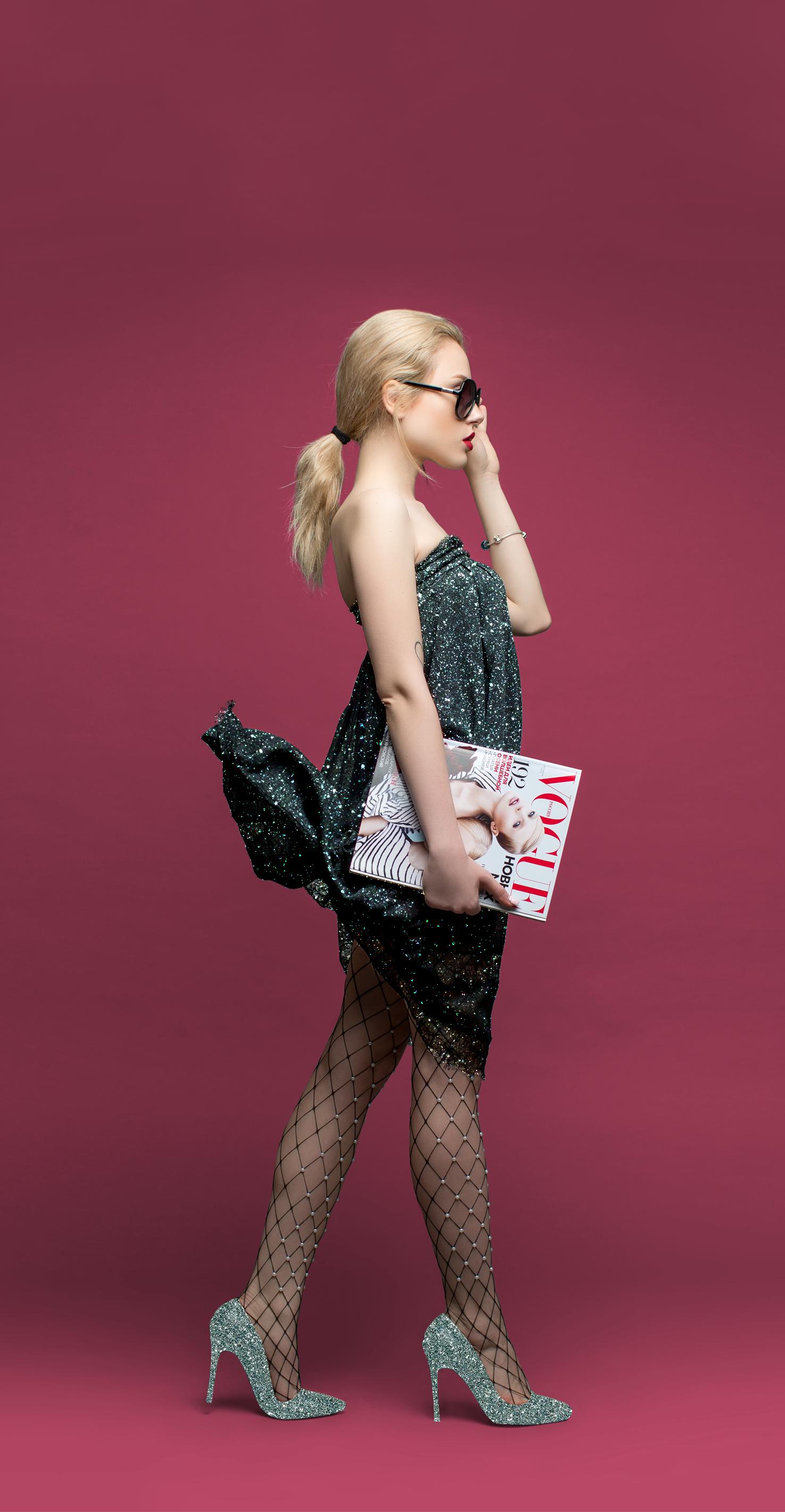 Sexy Lingerie Black Fishnet Mini Dress Babydoll Mature