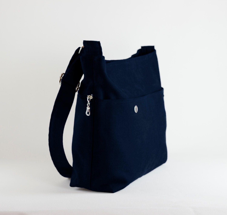 68202a1c4ff1 Navy Blue,Messenger Bag, Unisex, College Bag, Crossbody, Long Strap ...