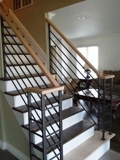 Best Stair Railing Ideas For Inside Your Home Iron Stair 400 x 300