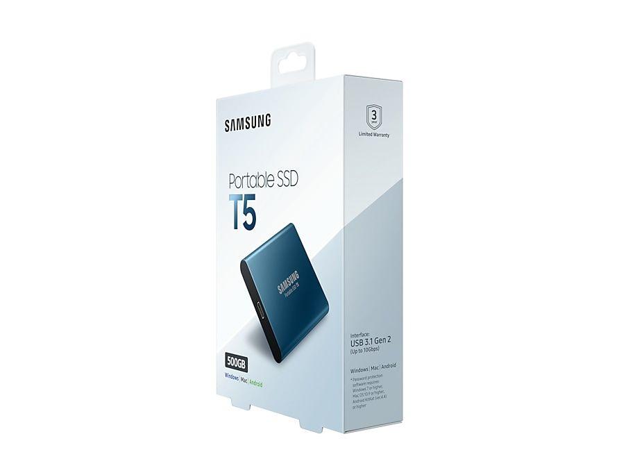 Portable Ssd T5 500gb Samsung Es En 2020 Dispositivo De Salida Memoria Flash Encriptacion
