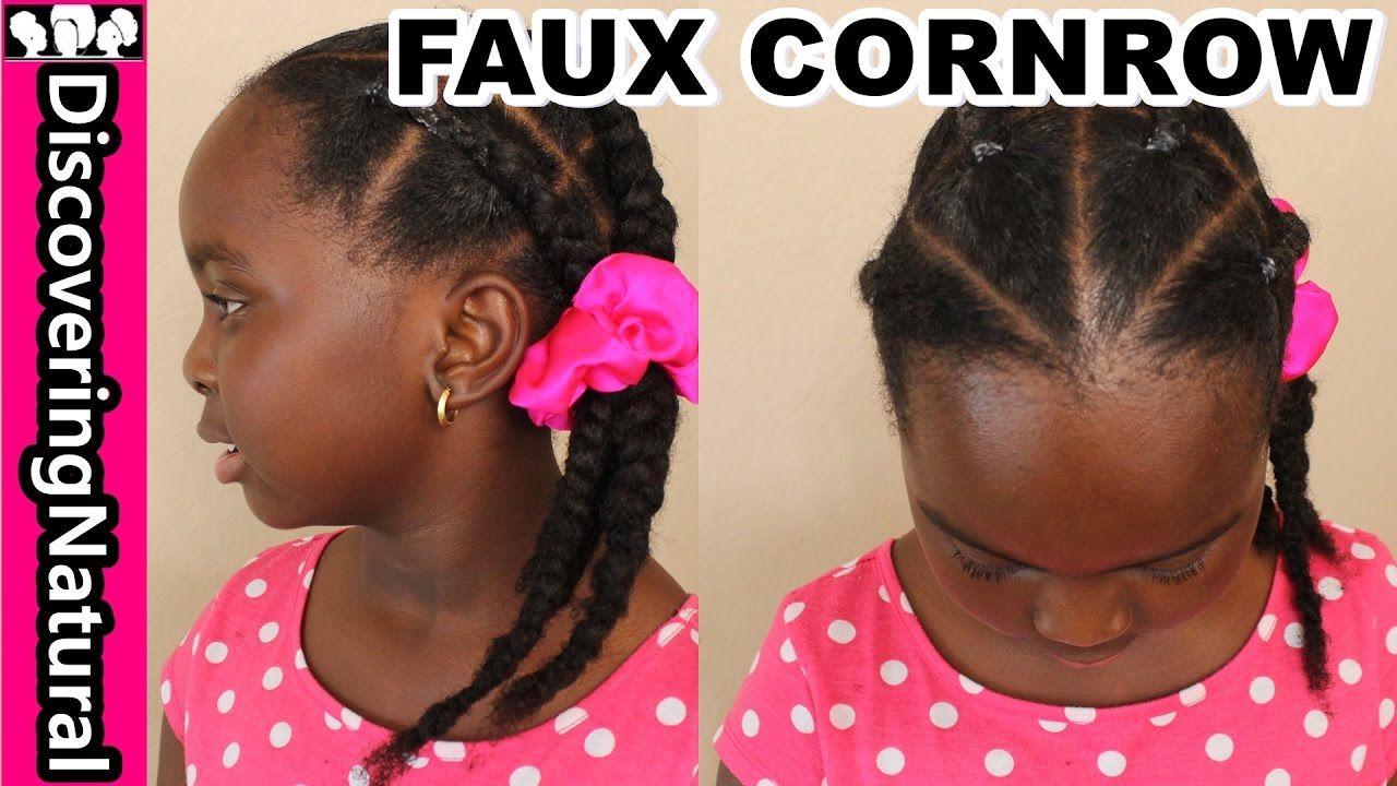 How To Fake Cornrows Natural Hair Naturalhair Kidshairstyles
