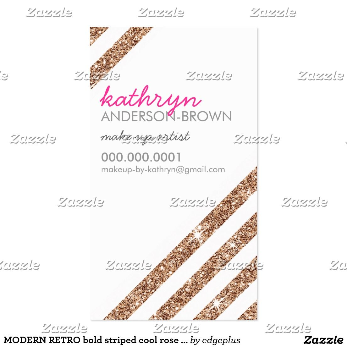 Modern retro bold striped cool rose gold glitter business card modern retro bold striped cool rose gold glitter business card setup as a template you change magicingreecefo Images
