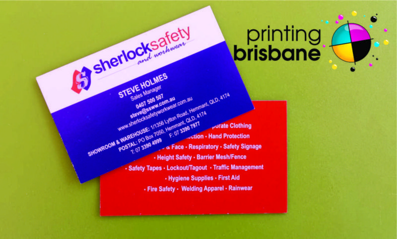 Sherlock safety and workwear have great colours on their business sherlock safety and workwear have great colours on their business cards printing services brisbane reheart Image collections