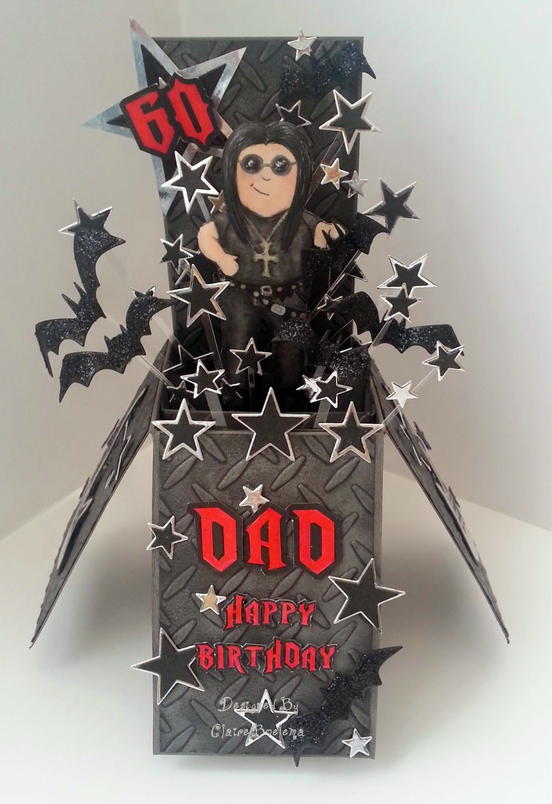 Ozzy Osbourne, Rock, Mens Cards, Graph'It Markers Pop up