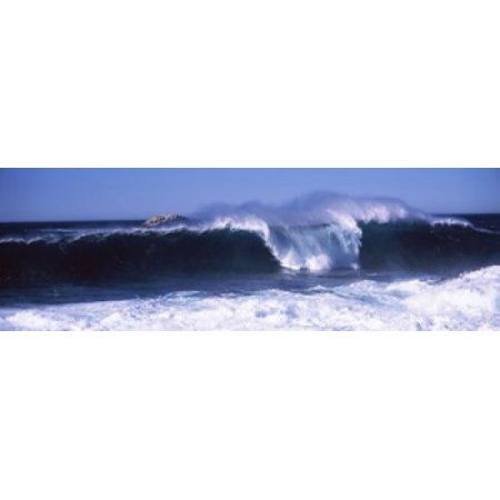 Waves in the sea Big Sur California USA Canvas Art - Panoramic Images (36 x 12)