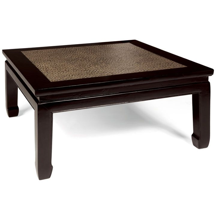 Square Daybed Table Chinese Style Square Coffee Table In Dark Elm