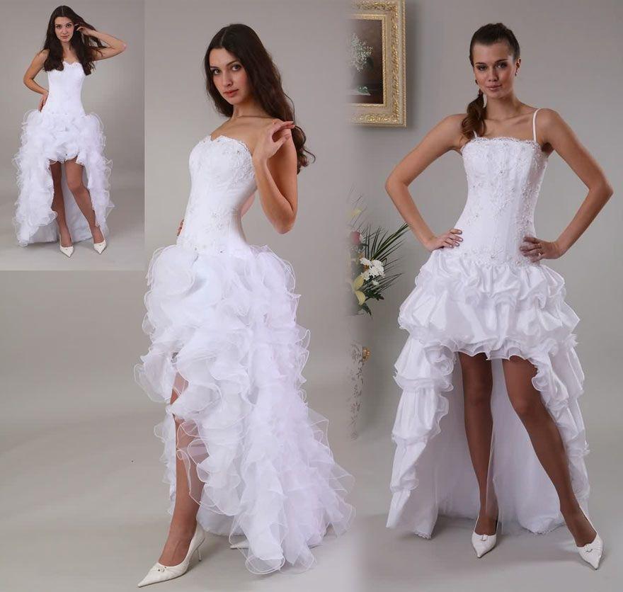 Tendance Robe De Mariee Courte Devant Longue Derriere Robe De Mariee Demoiselle D Honneur Short Lace Wedding Dress Wedding Dresses Wedding Dresses Lace