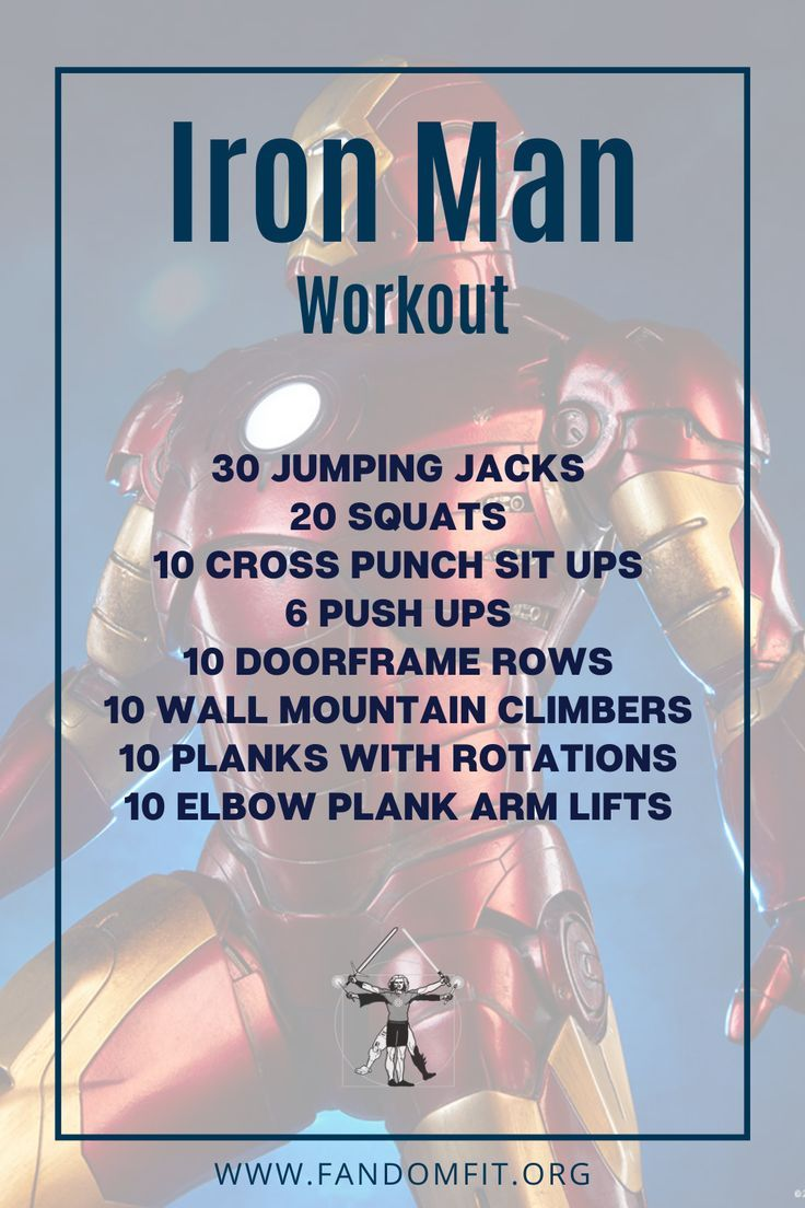 """Try out this """"Iron Man"""" fitness routine to get your body in shape. FandomFit 