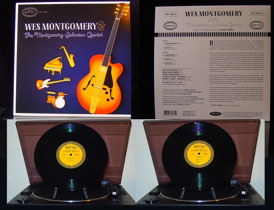 Wes Montgomery The Montgomery Johnson Quintet Limited Edition World Wide Pressing Of 2000 Copies On 10 Vinyl Recor Record Store Vinyl Record Collectors