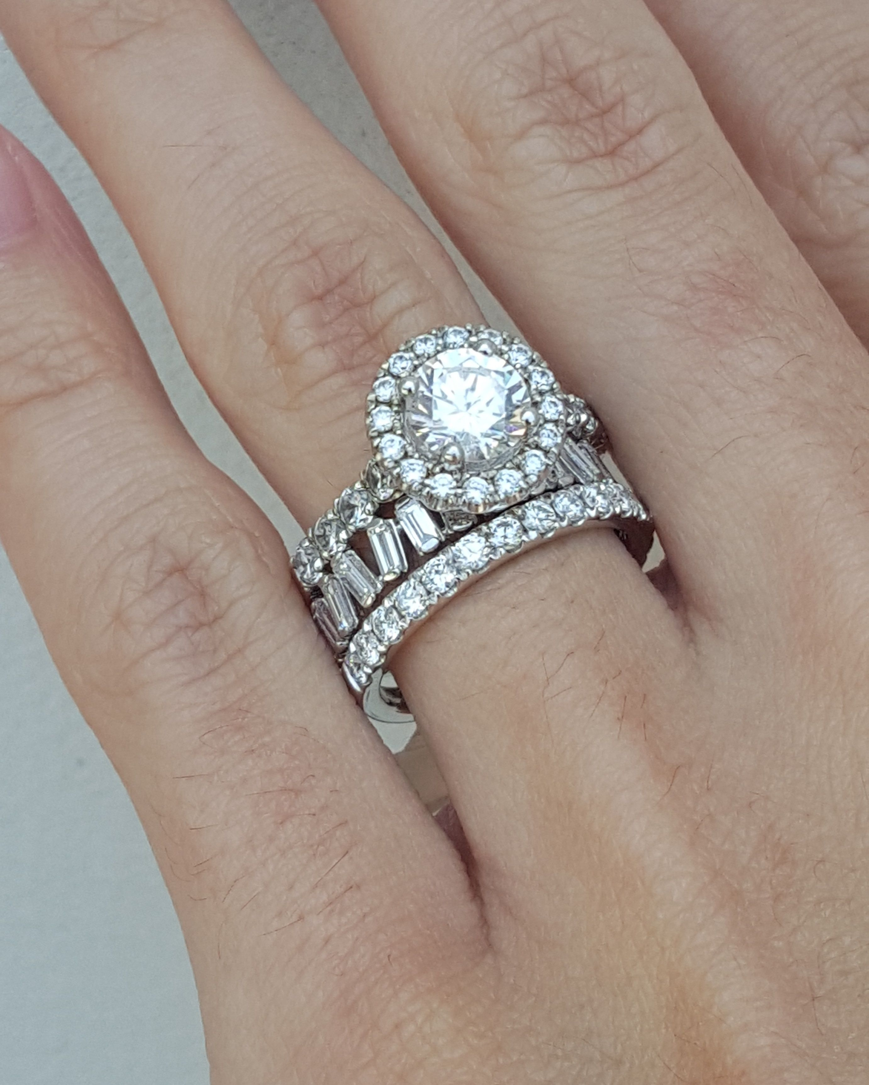 Stackables Baguette Band Stacking Bands Diamond Baguette Ring
