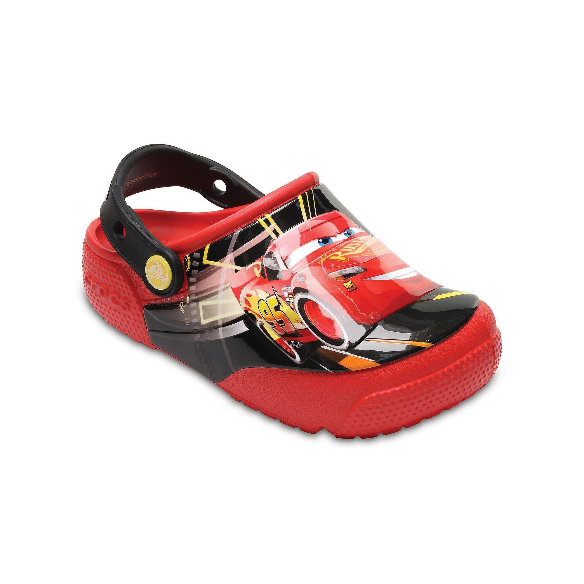 e7b987646295f8 Crocs Disney   Pixar Cars Lightning McQueen Kids Light-Up Clogs ...