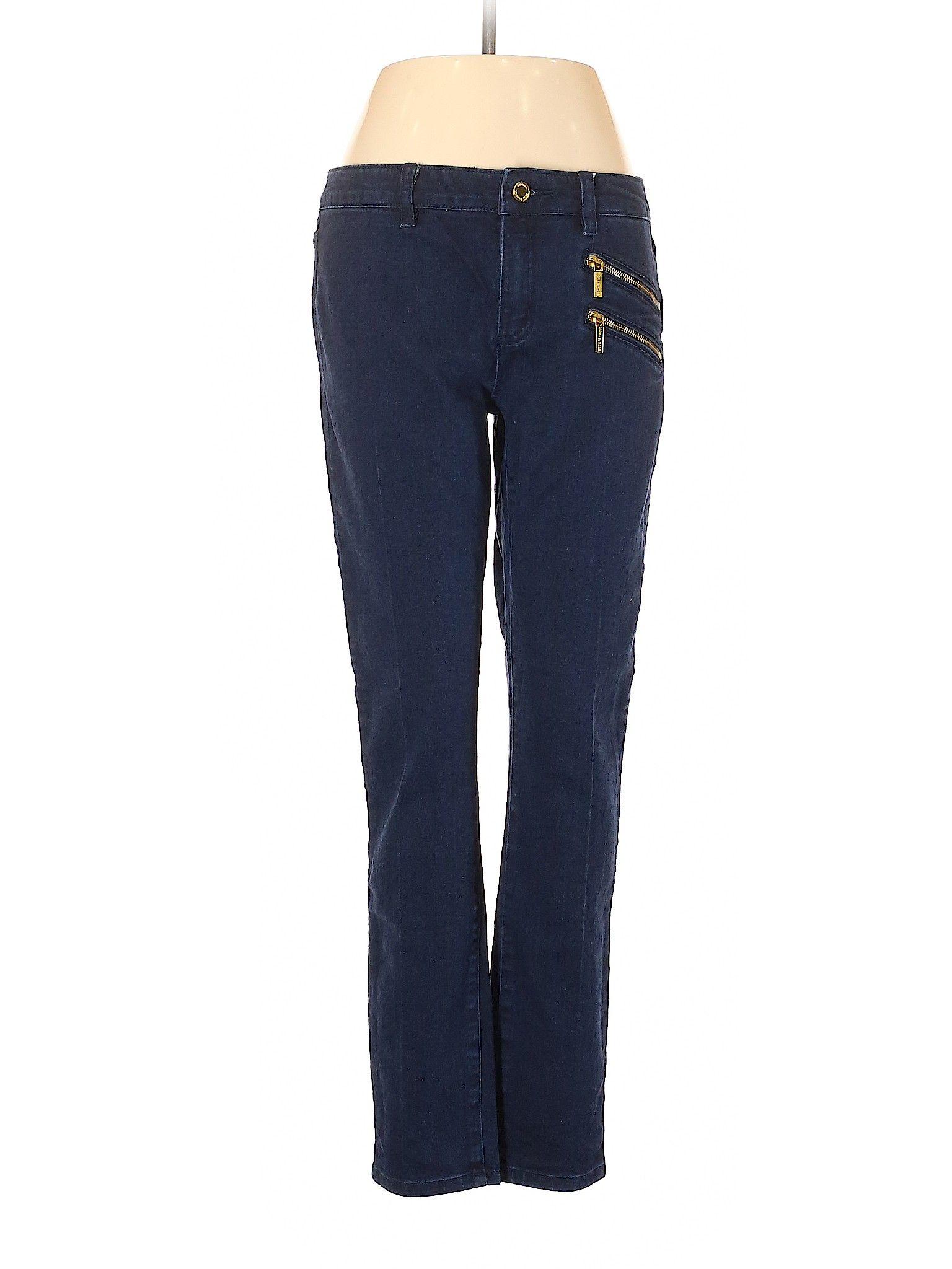 MICHAEL Michael Kors Jeans MidReg Rise: Blue Bottoms