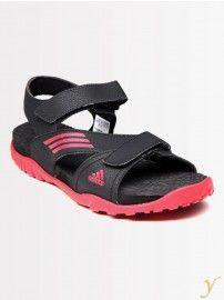 dbcedaa92 Adidas  Men L45015 Black Red  Sandals  YuvaStyle India