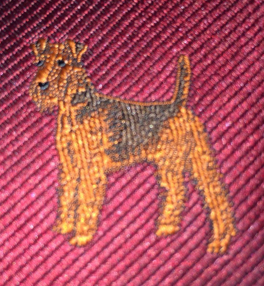 Airedale Terrier Dog Tie David Barrato Original Dog Tie Company Usa Vintage Originaldogtiecompany Necktie Dog Tie Airedale Terrier Terrier Dogs