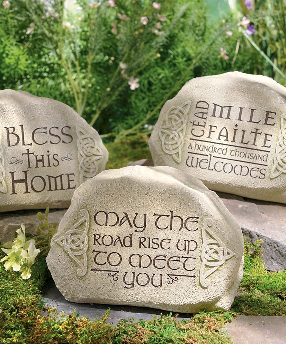 Look at this Celtic Garden Décor Set on #zulily today! | Gardening ...