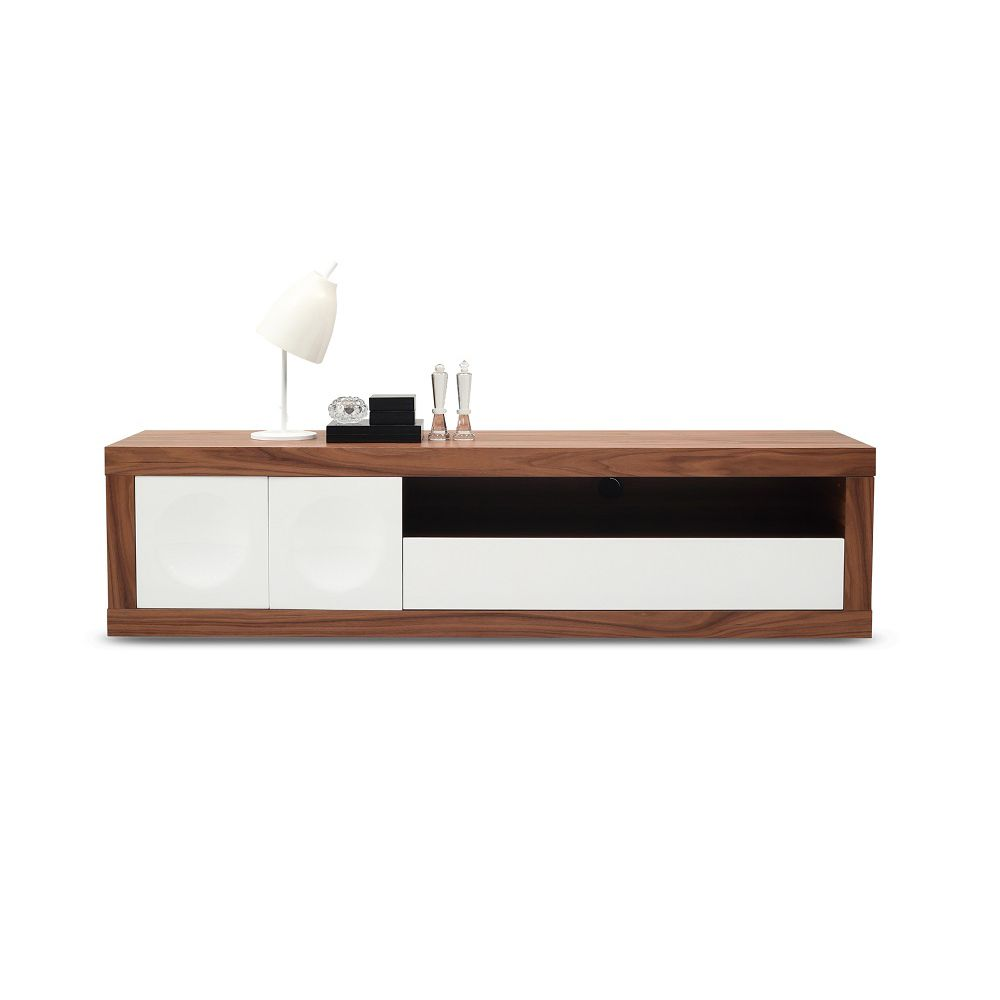 J And M Furniture 18092 Prato 78 Modern Tv Stand Walnut Veneer Frame W High Gloss White Doors In 2021 Tv Stands And Entertainment Centers Modern Tv Solid Wood Tv Stand J and m tv stand