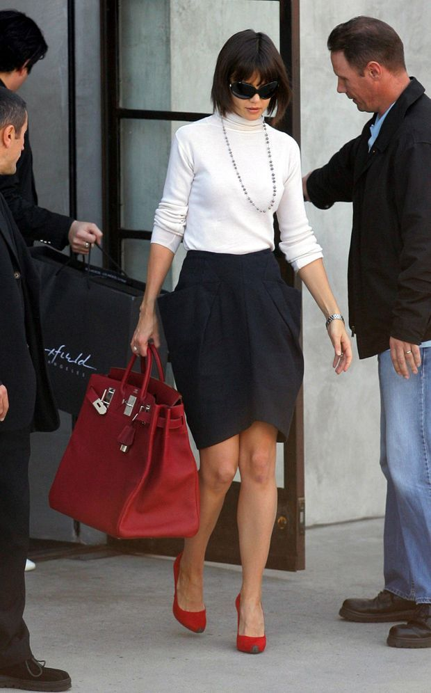 Katie Holmes with an oversized Hermes Birkin Bag in Hollywood ... 7275791f1127f