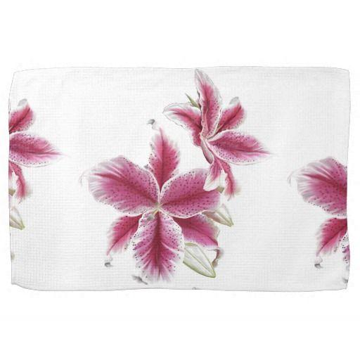 """Stargazer Lillies Kitchen Towel 16"""" x 24"""""""
