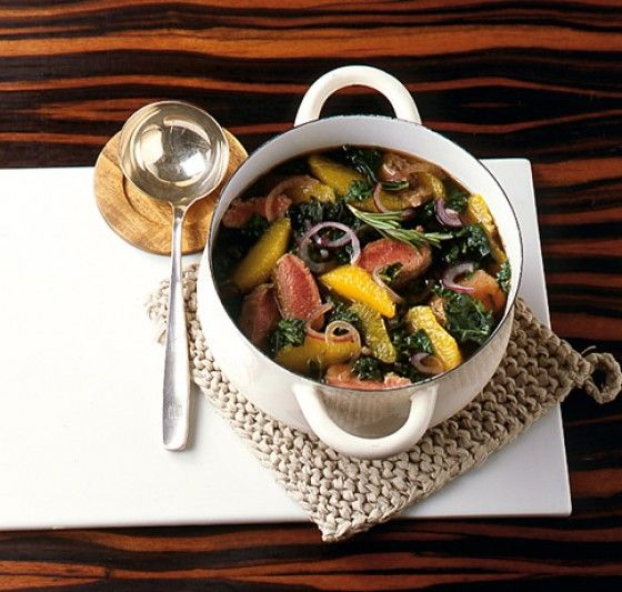 kale stew with oranges