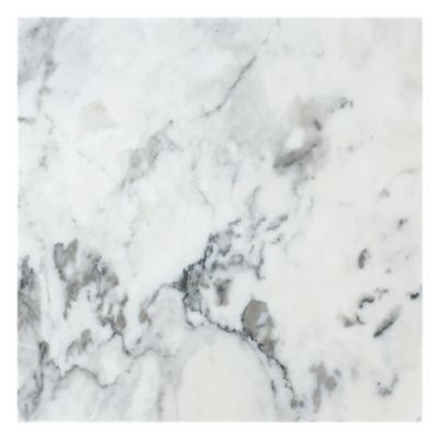 Thick Cut Milky White Marble With An Overlay Of Blue Grey