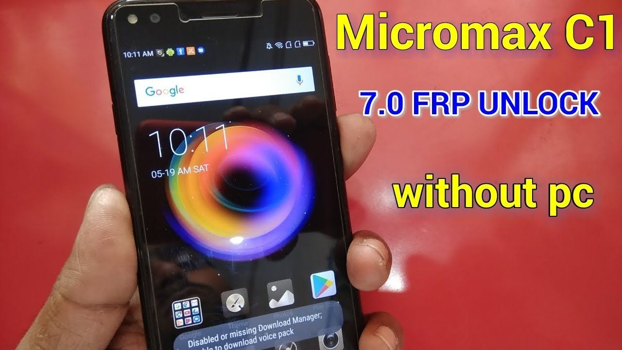 Micromax C1 7 0 Frp Reset, Google Account Bypass Without Pc
