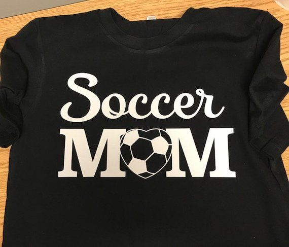 1f22ebd9bcae Soccer mom tshirt with heat transfer vinyl, sports mom shirt ...