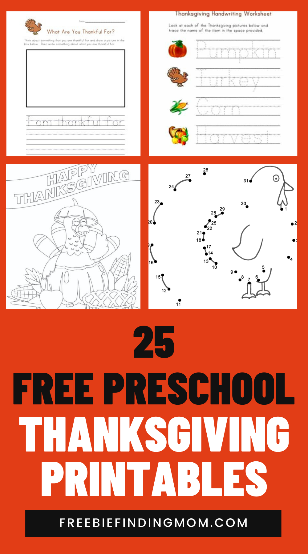 Predownload: 25 Free Preschool Thanksgiving Printables Freebie Finding Mom Thanksgiving Preschool Free Preschool Thanksgiving Activities Preschool [ 1800 x 1000 Pixel ]