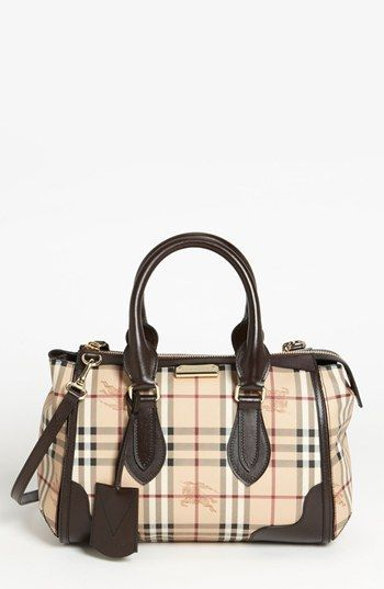 Burberry Haymarket Check Satchel Available At Nordstrom Leather Coin Purse Quilted Purses Brands Ad